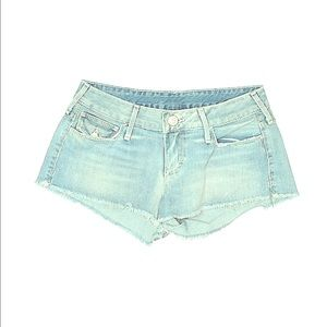 "TRUE RELIGION 27"" BLUE DENIM SHORTS BUTTON POCKETS"